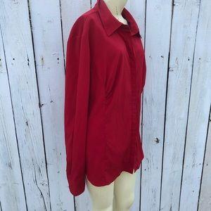 Lane Bryant Tops - Lane Bryant 18/20 red blouse holidays work